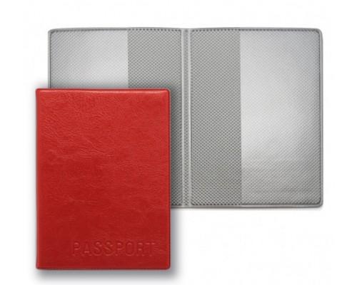 Обложка для паспорта ДПС ПВХ красная 2203.И-202