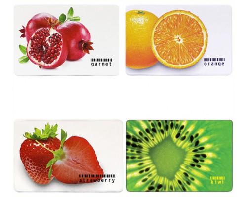 Обложка-карман для карточек,пропусков ПВХ 65*95мм Фрукты 2802.ЯК.Ф