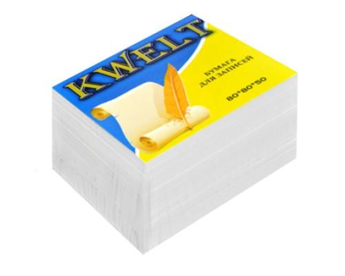 Блок бумаги Kwelt 80*80*50л белый К-00020