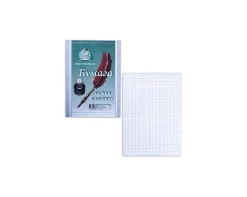 Бумага писчая А4 100л 55г/м клетка ТетраПром