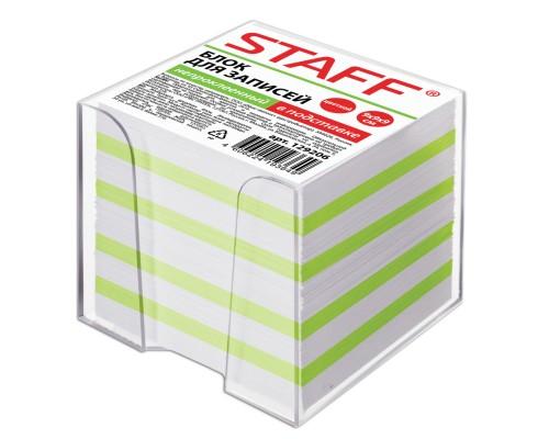 Блок бумаги Staff 9*9*9л в подставке цветной с белым 129206
