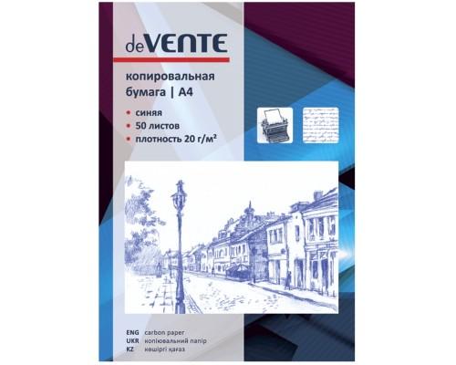 Копировальная бумага deVente А4 50л синяя 2041300