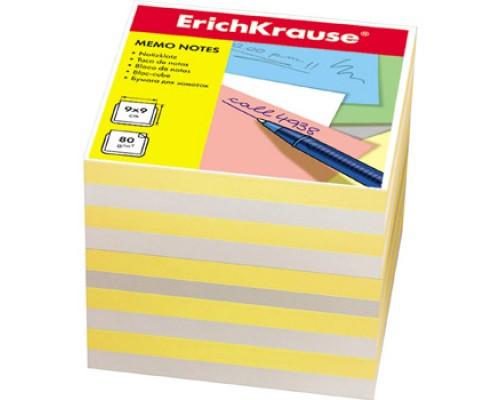 Блок бумаги Erich Krause 9*9*9см желтый