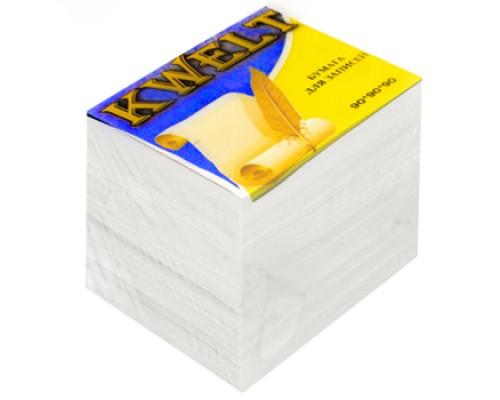 Блок бумаги Kwelt 90*90*90л белый К-00004