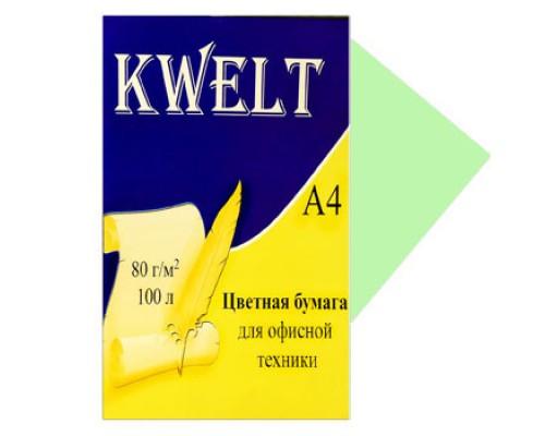 Бумага офисная Kwelt пастель А4 100л 80г/м салатовый