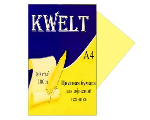 Бумага офисная Kwelt пастель А4 100л 80г/м желтый