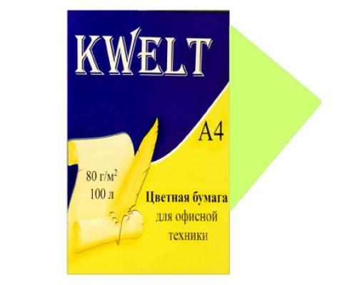 Бумага офисная Kwelt пастель А4 100л 80г/м зеленый
