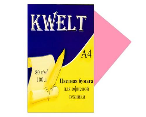 Бумага офисная Kwelt пастель А4 100л 80г/м розовый