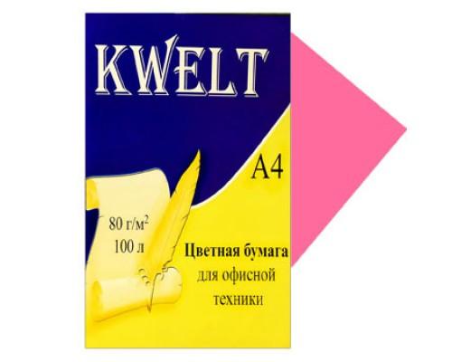Бумага офисная Kwelt неон А4 100л 80г/м лососевый