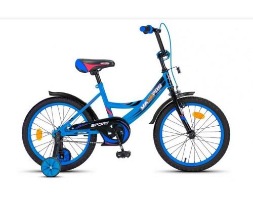 Велосипед 16 SPORT -5 матовый сине-черный