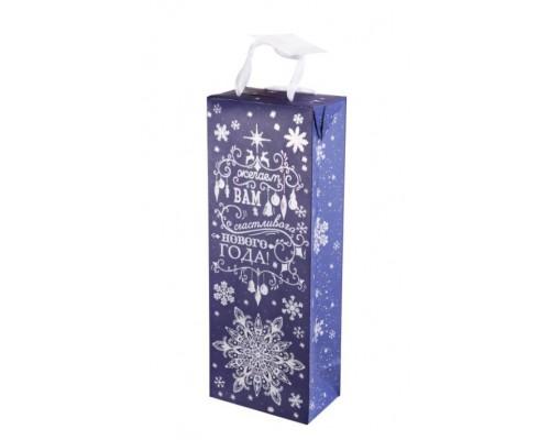 Пакет подарочный Феникс НГ 12,5*34,5*8,3см Метель 79939