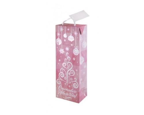 Пакет подарочный Феникс НГ 12,5*34,5*8,3см Розовая елка 79940