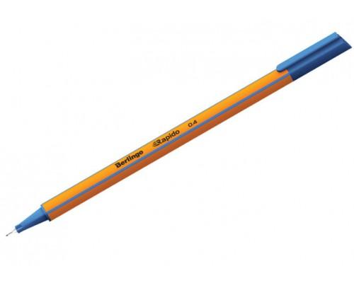 Ручка капиллярная Berlingo Rapido 0,4мм трехгр синяя