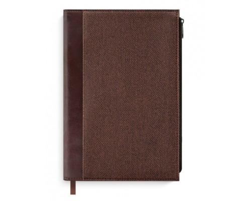 Ежедневник Феникс А5 96л недатир Сариф серо-коричневый офсет 50539