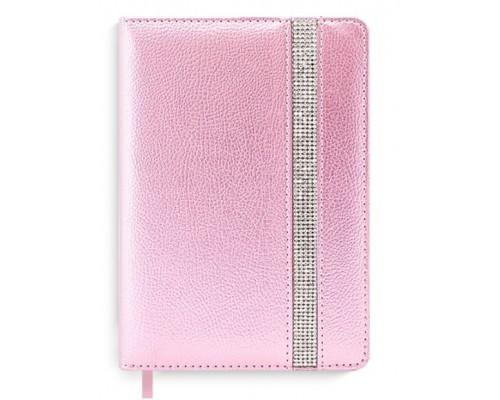 Ежедневник Феникс А6+ 160л недатир Наппа розовый кожзам тониров.офсет линия 50455