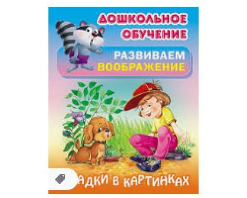 Дошкольное обучение Развиваем воображение А5+ Загадки в картинках Русские народные загадки 2017
