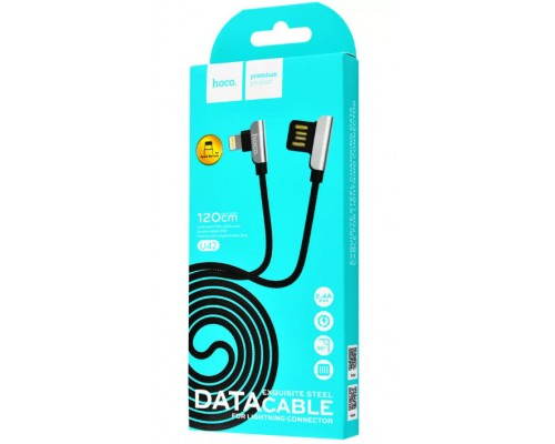 Кабель USB 8-pin Hoco U42 2,4А 1.2м черный