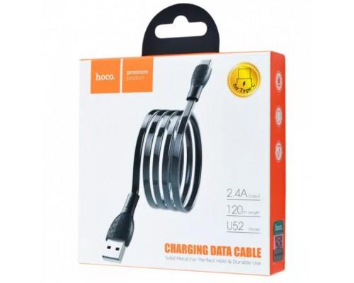 Кабель USB Type-C Hoco U52 2,4А 1.2м черный