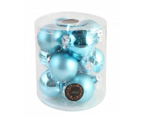 Шар стекло 80мм Blue 210078 Льдинка