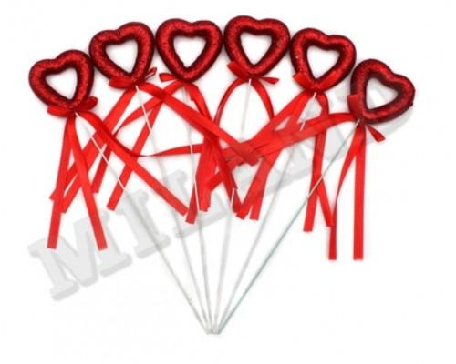 Сердечки на палочке с блестками Миленд Т-3924