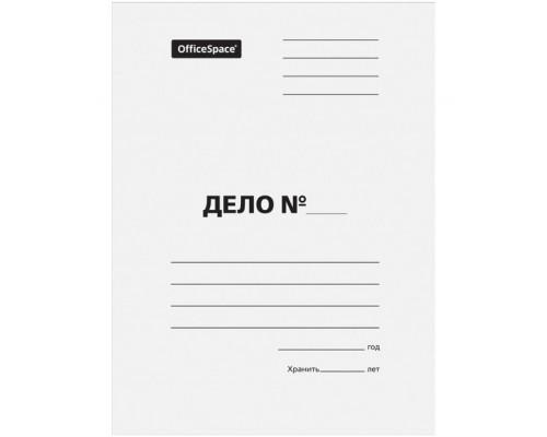 Папка Дело 320г/м белая немелов Спейс 257316
