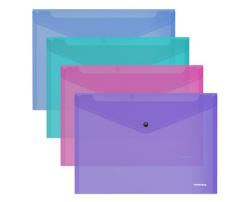 Папка-конверт А4 ЕК Glossy Vivild 0,18мм полупрозрачная