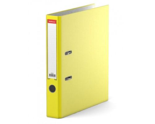 Папка-регистратор 50мм ЕК Neon желтая собр (А4 картон/ПВХ, карман)