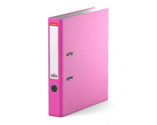 Папка-регистратор 50мм ЕК Neon розовая собр (А4 картон/ПВХ, карман)