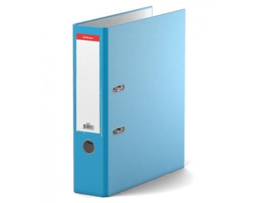 Папка-регистратор 70мм ЕК Neon голубая собр (А4 картон/ПВХ, карман)