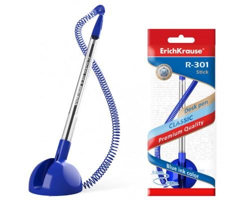 Ручка настольная ЕК R-301 Desk Pen 1,0мм синий корпус пл.шнур синяя 46434