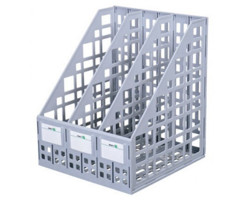 Лоток вертикальный Стамм 3-отд серый ЛТ80