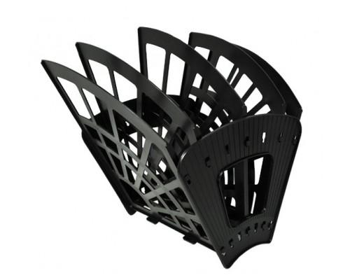 Лоток вертикальный Стамм 4-х секц Эконом черный