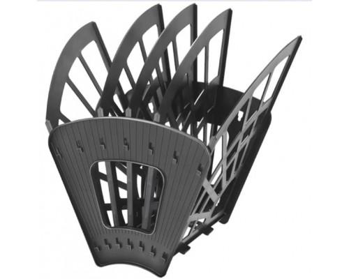 Лоток вертикальный Стамм 5-х секц(4отд) Эконом черный