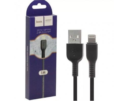 Кабель USB 8-pin Hoco X20 2А 1м черный
