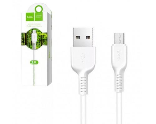 Кабель USB Micro V8 Hoco X20 2А 2м белый