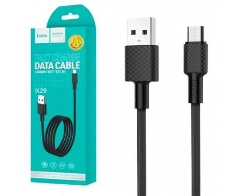 Кабель USB Micro V8 Hoco X29 2А 1м черный