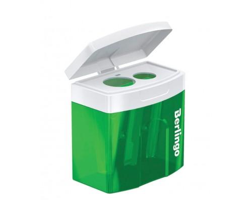 Точилка Berlingo Perfect XL пластик 2отв с контейнером
