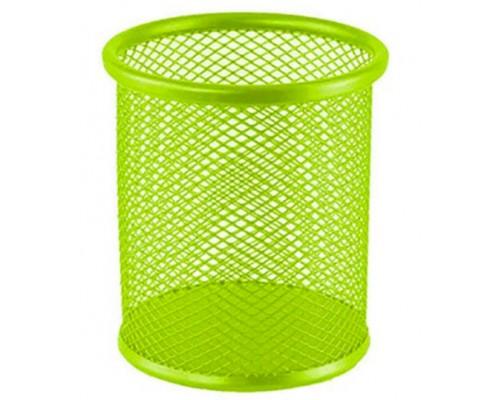 Стакан Kwelt металл сетчатый круглый св.зеленый К-1890