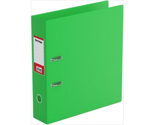 Папка-регистратор 70мм Berlingo ПВХ с карманом св-зеленая