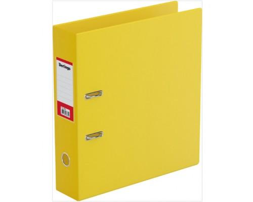 Папка-регистратор 70мм Berlingo ПВХ с карманом желтая