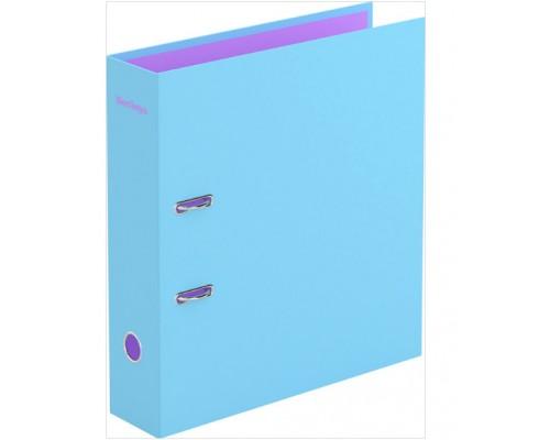 Папка-регистратор 80мм Berlingo Haze 80мм матовая ламинированная голубая