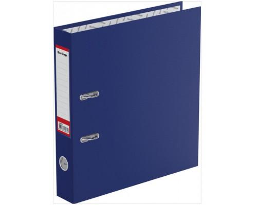 Папка-регистратор 50мм Berlingo синий (А4 картон/бумвинил,прозр.карман на корешке,поле д/записи на внутр.строне)