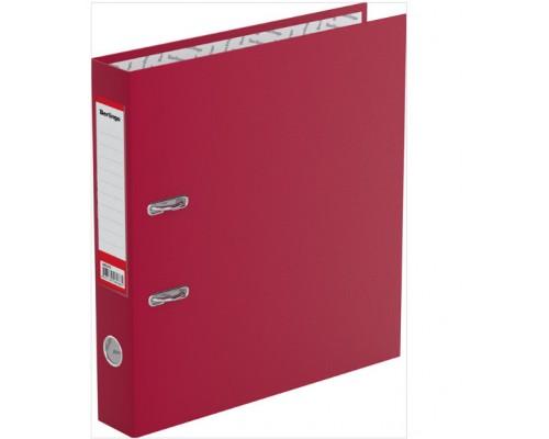Папка-регистратор 50мм Berlingo бордо (А4 картон/бумвинил,прозр.карман на корешке,поле д/записи на внутр.строне)
