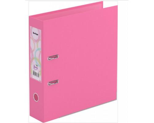 Папка-регистратор 70мм Berlingo Spring б/в двухстор розовая с карманом мет.кант