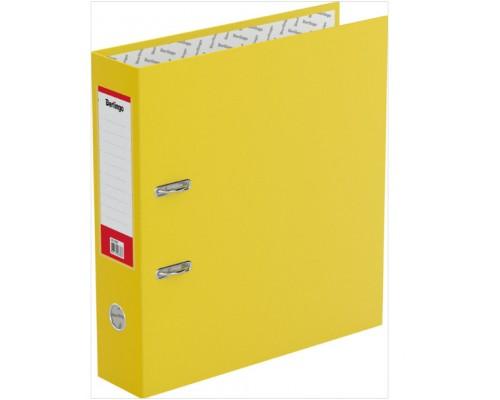 Папка-регистратор 70мм Berlingo б/в с карманом желтая