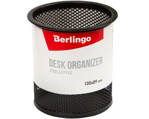 Подставка Berlingo Steel&Style металл круглая черная BMs_41102