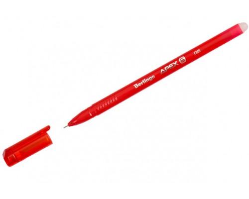 Ручка Пиши-стирай Berlingo Apex E 0,5мм гелевая трехгр красная
