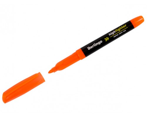 Текстовыделитель Berlingo 0,5-4мм оранжевый Т8018