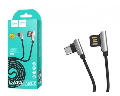 Кабель USB Type-C Hoco U42 2А 1.2м черный