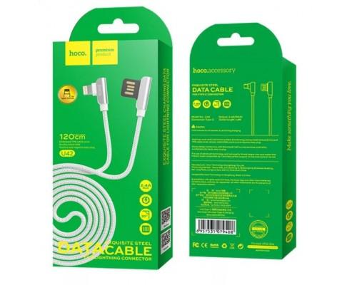 Кабель USB 8-pin Hoco U42 2,4А 1.2м белый